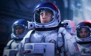 Картинка космонавт, скафандр, шлем, Astronauts