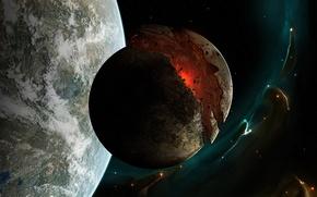 Обои Астронавт, Апокалипс, Планета