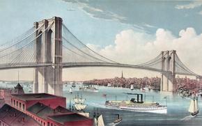 Картинка Мост, Бруклинский мост, бруклин