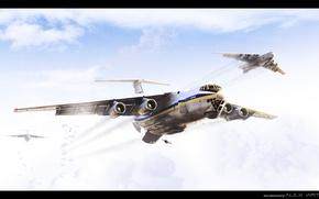 Картинка авиация, десант, il 76