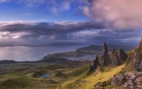 Картинка небо, облака, Шотландия, Scotland, Highlands, An Stor