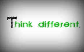 Картинка apple, logo, white, think