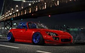 Обои Low, Design, Car, S2000, Honda, Stance, Orange, by Hugo Silva, Front
