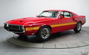 Картинка Shelby, 1969, Fastback, GT350, Классическое авто, White Coupe, 4 Speed, 351 V8