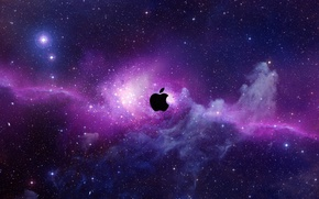 Обои space, apple, mac, computer