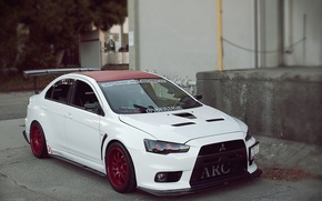 Картинка белая, Mitsubishi, Lancer, xenon