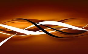 Обои линии, оранжевый, абстракция