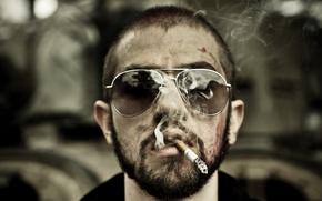 Картинка очки, сигарета, тихий