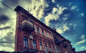 Обои Одесса, небо, здание, дом одной стены