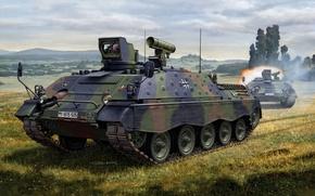 Картинка истребитель, арт, танк, ракетный, комплекс, экипаж, самоходный, танков, противотанковый, ягуар 1, jagdpanzer, тепловизионной, германия., Raketen, …