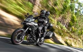 Картинка скорость, шоссе, мотоцикл, Ducati, Granturismo, 2015, 1200S, Multistrada