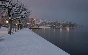 Картинка Зима, Город, Снег