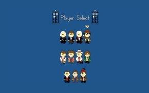 Картинка фон, арт, пиксели, Doctor Who, Доктор Кто