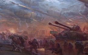 Обои война, армия, ссср, танк, red alert, советский союз