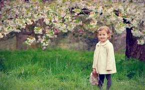 Картинка весна, кукла, девочка, цветение