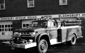 Картинка Додж, Dodge, раритет, 1968, пожарная машина, Firetruckm, Power Wagon