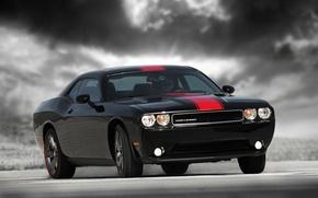 Картинка Dodge Challenger, Black, Rallye Redline