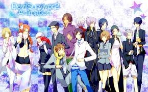 Картинка аниме, арт, персонажи, Devil Survivor 2, Devil Survivor