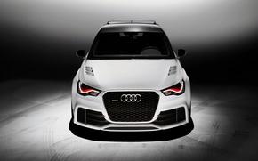 Картинка Audi, Авто, Ауди, Белый, Тюнинг, Капот, quattro, Передок