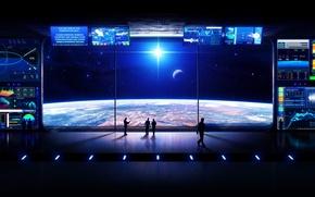 Картинка космос, путешествия, красиво, гармония, космическая станция