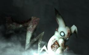 Картинка зомби, zombie, пикачу, picachu