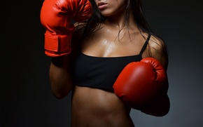 Картинка hot, sexy, woman, boxing, boxing gloves