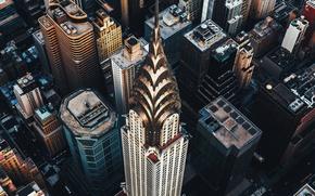 Картинка город, небоскреб, США, Манхэттен, Крайслер-билдинг