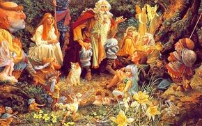 Картинка поляна, сказка, картина, совет, lrs Christensen, собрание в лесу