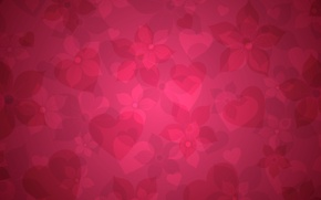 Картинка розовый, обои, сердце, текстура, сердечки, цветы. фон