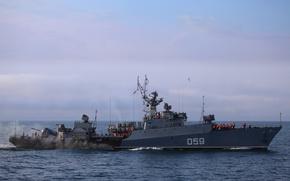 """Картинка корабль, противолодочный, малый, Черноморский Флот, """"Альбатрос"""", МПК, """"Александровец"""""""