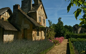 Картинка пейзаж, дом, сад
