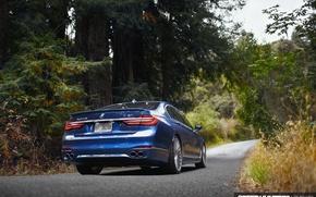 Обои дорога, лес, природа, BMW, ALPINA, B7 09
