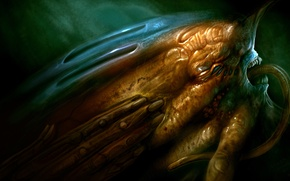 Картинка лицо, рука, монстр, art, H. R. Giger, Giger