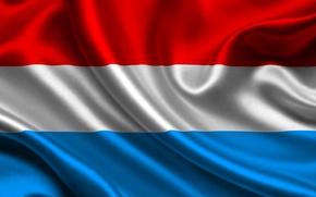 Картинка Флаг, Текстура, Люксембург, Flag, Luxembourg, Великое Герцогство Люксембург