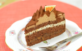Картинка торт, слои, крем, десерт, декор