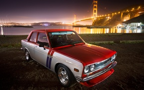 Картинка red, Datsun, 510, withe