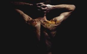 Картинка man, tattoo, the world has my back