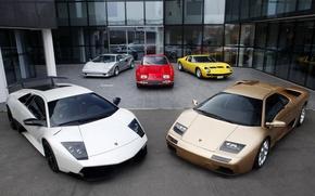 Картинка Lamborghini, Murcielago, 350 GT, Diablo, Miura, Countach