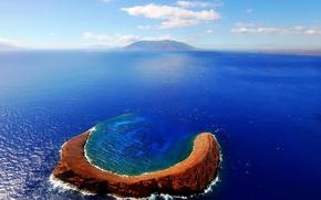 Картинка природа, океан, остров, атолл