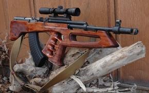 Картинка оружие, бревно, карабин, СКС, булл-пап