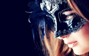 Картинка Girl, Face, Mask