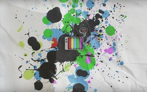Картинка стиль, бумага, надпись, краска, телевизор, 1920х1080, television by digiq8