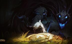 Картинка волк, овечка, League of legends, Киндред