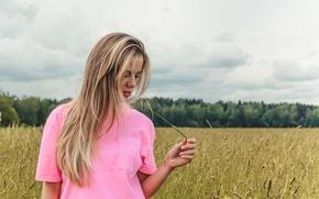 Картинка лето, небо, девушка, город, волосы, москва, загар, блондинка