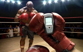 Обои телефон, звонок, боксер