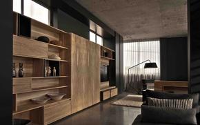 Картинка дизайн, дом, стиль, интерьер, жилая комната