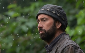 Картинка шапка, размытие, Николас Кейдж, борода, Nicolas Cage, В изгнании, Outcast