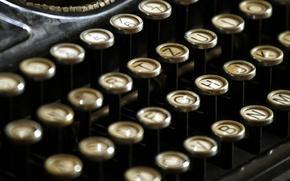 Картинка vintage, ретро, машинка, typewriter, кнопки, old, retro, печатная, старая, клавиши, винтаж