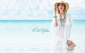 Картинка море, модель, Kate Upton