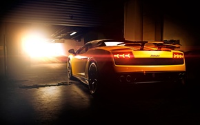 Картинка Lamborghini, Superleggera, Gallardo, Sun, Yellow, LP570-4